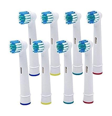 8 cabezales de cepillo de dientes eléctrico Vinallo, cabezales de repuesto, para Braun Oral