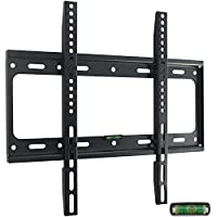 Ultra Slim TV Wall Mount Bracket for 32 37 39 40 42 43 46 48 50 51 55 inch Flat LCD LED Plasma HDTV Smart TV, Max VESA 400x400mm, Bubble Level Included