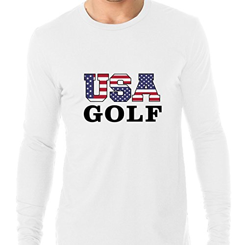 USA Golf - Olympic Games - Rio - Flag Men's Long Sleeve - Team Apparel Usa Olympics Golf