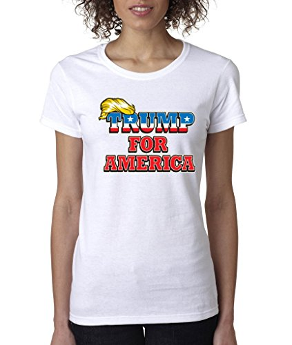 Day Tea Party T-shirt - Trump For America Ladies T-Shirt Make America Great Again Shirts 3XL White p1
