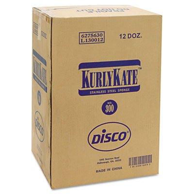 Loren Kurly Kate Number 300 Medium Stainless Steel Sponges, 12 per pack - 12 packs per case.