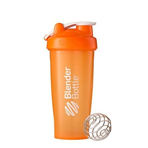 BlenderBottle Classic Loop Top Shaker Bottle, Orange/Orange, 28-Ounce Loop Top