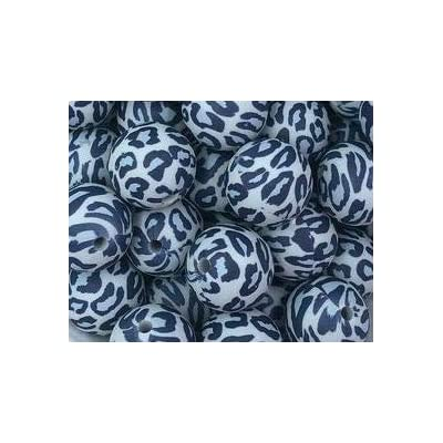 10 Gray Leopard Silicone Loose Teething Beads 15mm BPA Free 100% Food Grade - Crafts and Jewelry Making: Arts, Crafts & Sewing