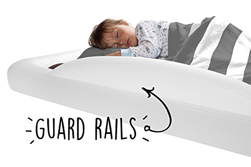 The Shrunks Toddler Travel Bed Portable Inflatable Air Mattress Bed for Toddlers for Travel or Home Use, White, Toddler Size 60 x 37 x 9 inches
