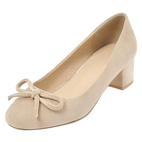 4 TAOFFEN Beige Court On Sweet Women Shoes Slip HwHBq