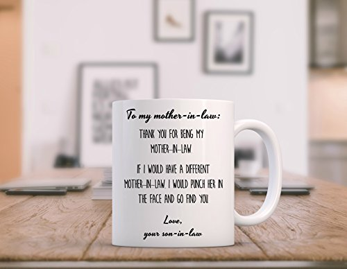 Mother In Law Gift From Groom Thank You Punch The Face Coffee Mug Best Ever Birthday Wedding Day Christmas Present Future To Be Daughter S