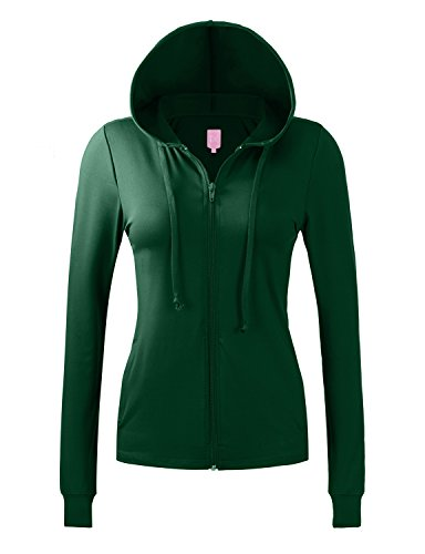 REGNA X Bother Womens lightweight performance full zip up hoodie jacket, 17102_green, Small