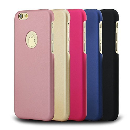 DIZA100 Ultra Thin Slim Case for Apple iPhone 6 / 6S - 5 Color Sets(Black \ Blue \ Rose Gold \ Gold \ Rose Red)