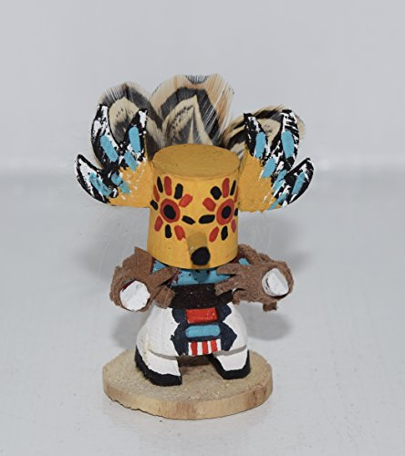 Miniature Owl Kachina with Removable Mask (Doll Owl Kachina)