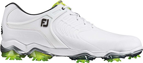 FootJoy Men's Tour S Cleated TPU Saddle Strap All Over White 9.5 WW US
