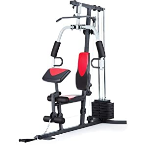 Home Gym Weider 214 lb Stack, 300 lbs, exercise chart,...