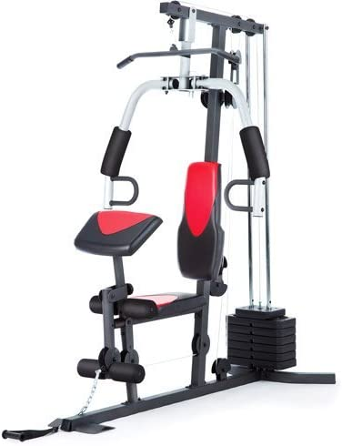 Home Gym Weider 214 lb Stack, 300 lbs, workout chart, ankle strap, vinyl seats