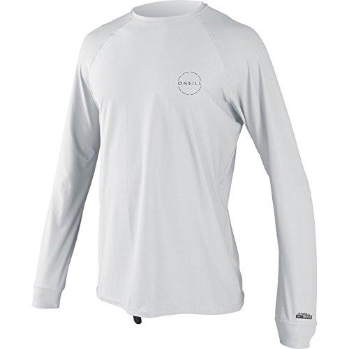Long Sleeve T-shirt Wetsuit - O'Neill Men's 24-7 Traveler Upf 50+ Long Sleeve Sun Shirt, White, X-Large