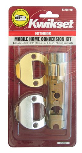 Kwikset 22827 CP DL 2WAL DI 3/26 CNV KIT Mobile Home Exterior Entry Lock Conversion Kit - Exterior Home Doors