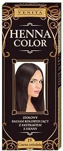 Henna Color 19 - Tinte de Cabello Chocolate Oscuro - Balsamo de Cabello - Efecto de Color - Tinte Natural - Henna Eco