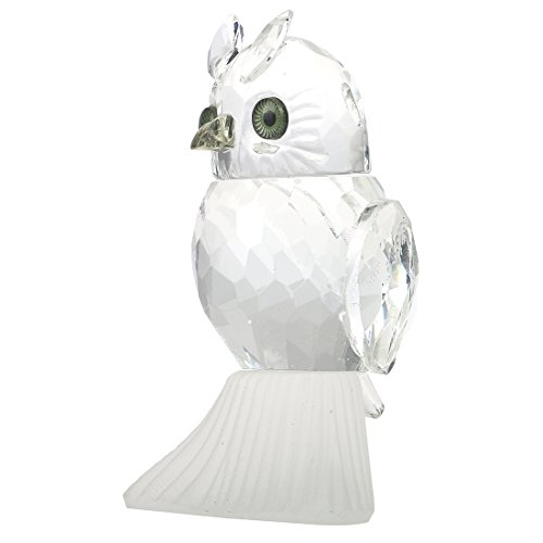 H&D Clear Crystal Owl Figurine Collection Paperweight Table Centerpiece Ornament]()