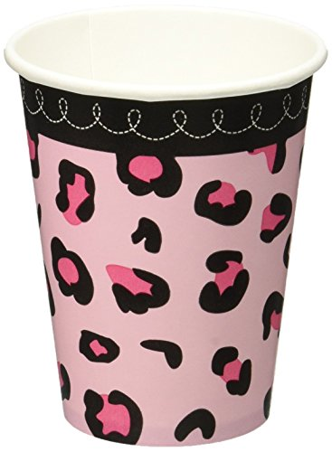 Sweet Safari Girl Baby Shower Party Cups, 18 Pieces, Made from Paper, Pink, 9 oz by Amscan