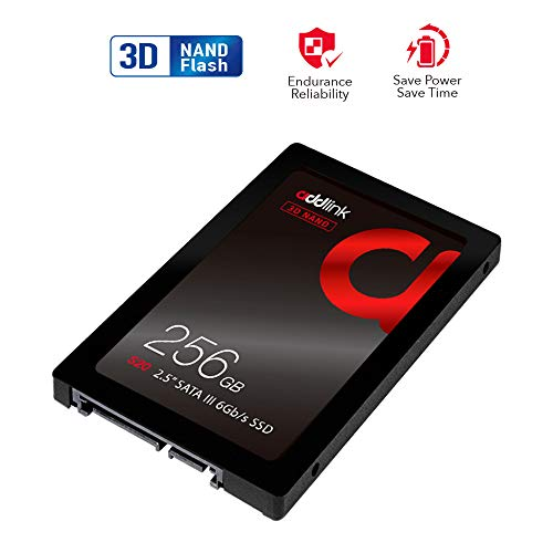 addlink S20 256GB SSD 3D NAND SATA III 6Gb/s 2.5 inch/7mm Internal Solid State Drive with Read 510MB/s Write 400MB/s ()