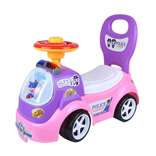 (CMrtew ❤️ Children Four Wheel Balance Bike Ride On Toy Kids Car Push Along Children Bike Toddler Walker Baby Balance Toys (Pink, 53x24.5x44cm))