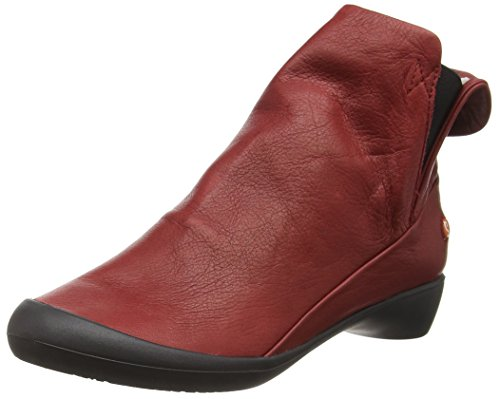 Softinos Fla346sof - Botines para mujer Rojo - Red (Red (Black Sole))