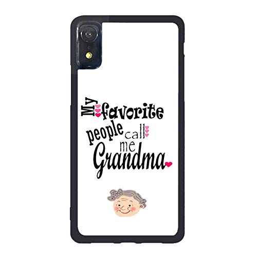 Toanovelty My Favorite People Call Me Grandma Phone case Compatible with iPhone XR, Vanity Anti Dust Protective Case Compatible with iPhone XR