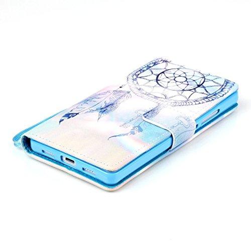 Ascend P8 LITE Sunroyal®Caso Cáscara Funda Case Cover PU del Tirón de Cubierta del Teléfono Móvil en el Estilo de Libro de Cuero de la Caja del Huawei Ascend P8 Lite/ P8 Mini de 5 Pulgadas ( No para H A-01