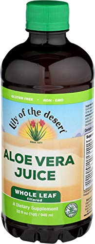 Lily of the Desert Aloe Vera Juice, Whole Leaf, 32 Ounces (Pack of 2) (Desert Leaf)