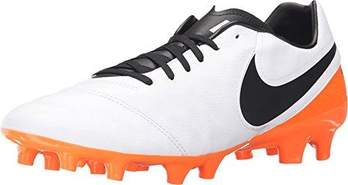 Nike Tiempo Mystic V FG Mens Football Boots 819236 Soccer Cleats (UK 7.5 US 8.5 EU 42, White Black Total Orange 108)