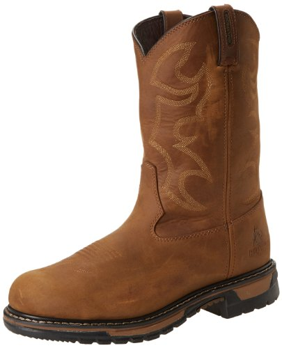 Rocky Men's Original Ride Steel Toe Brown Work Boot,Brown,10 W US