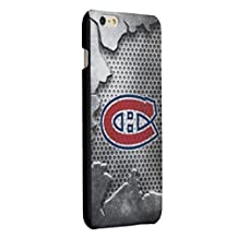 CHICEXP Montreal Canadiens iPhone 6/6s Hard Shell Cover Case, with Tempered Glass Screen Protector