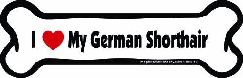 Imagine This Bone Car Magnet, I Love My German Shorthair, 2-Inch by (German Shorthair Magnet)