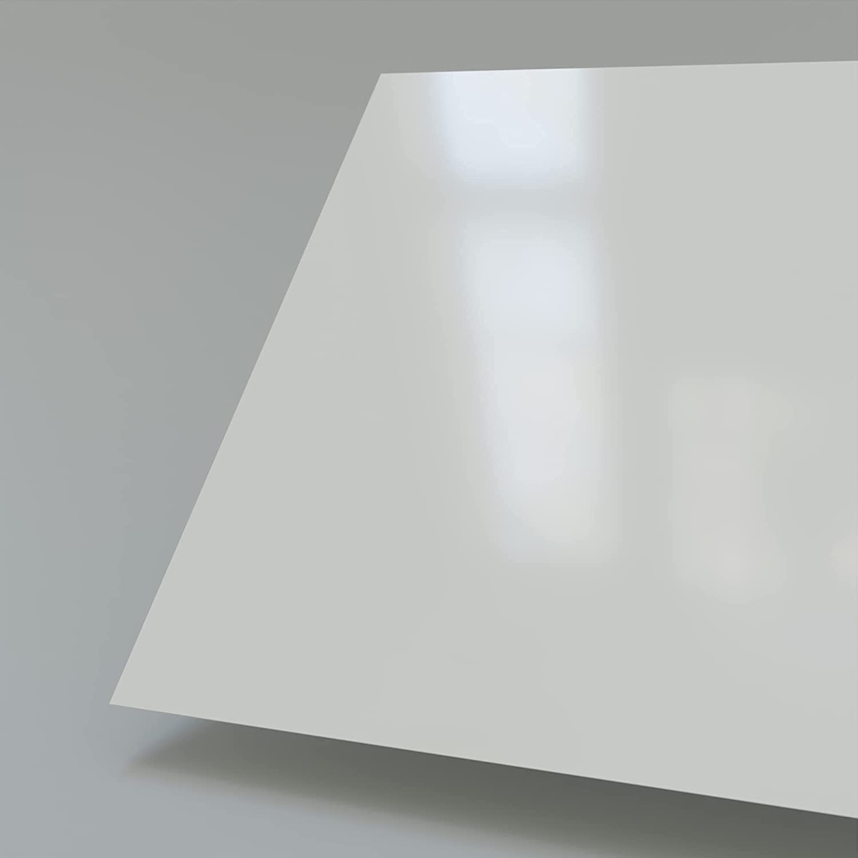 A+H Plaque en PVC expans/é dure 2000x1000cm 1mm avec film de protection sur un c/ôt/é Blanc