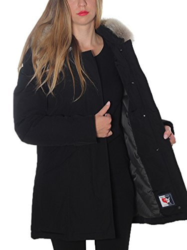 Cotone Cappotto Nero Donna Woolrich Wwcps1446cn02blk xTf4w8A