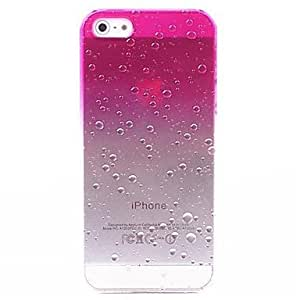 3D Rain Drops Pattern PC Hard Case for iPhone 5/5S (Assorted Colors) ( Color : Pink )