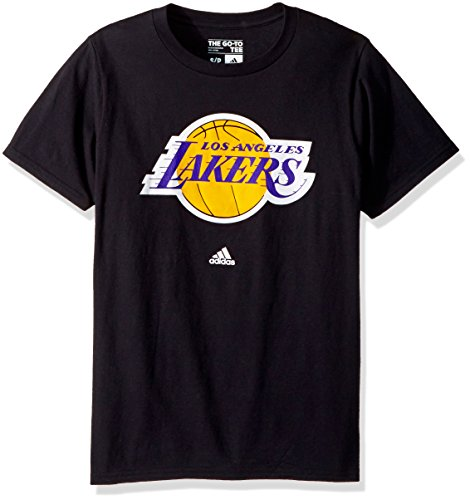 Los Angeles Lakers Adidas Primary Logo Black T Shirt – DiZiSports Store