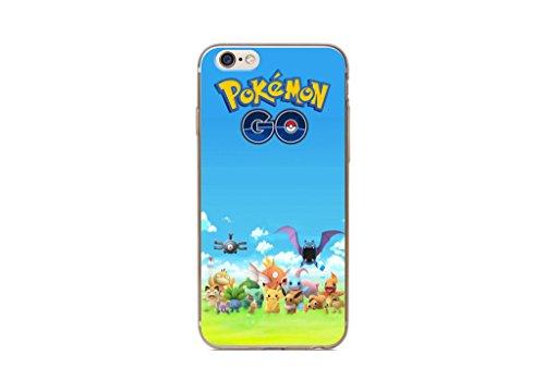 iPhone 5/5s Pokemon Estuche de Silicona / Cubierta de Gel para Apple iPhone 5s 5 SE / Protector de Pantalla y Paño / iCHOOSE / Team Instinct Pokemon Go Grupo