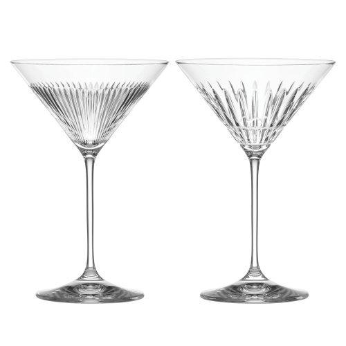 Reed & Barton, Thomas O'Brien New Vintage Martini Glasses s/2 - Obrien Thomas Barware