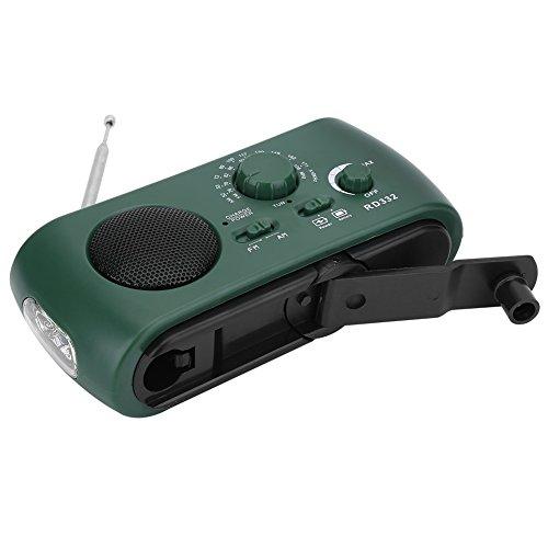 Aramox Hand Crank Self Powered AM/FM Radio Solar Power Emergency NOAA Weather Radio with Power Bank, Emergency Phone Charger, Flashlight by Aramox (Image #8)