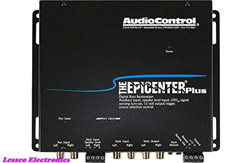 - AudioControl The Epicenter Plus Black Bass Restoration Processor with OEM Interface