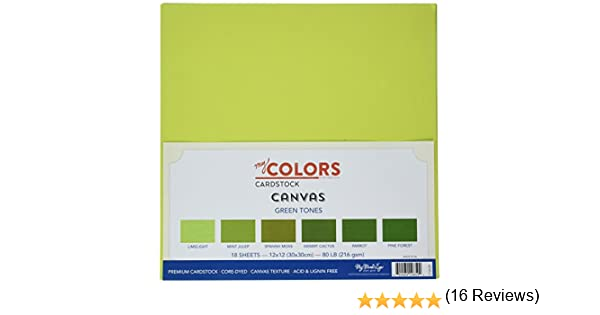 My Colors Canvas Cardstock Bundle 12