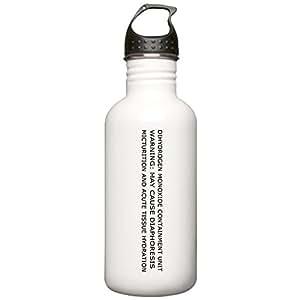 CafePress - Dihydrogen Monoxide Containment Water Bottle - Stainless Steel Water Bottle, 1.0L Sports Bottle