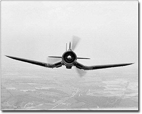 Vought F4U Corsair WWII Aircraft 8x10 Silver Halide Photo Print (Vought Wwii Aircraft Corsair F4u)