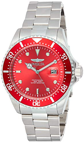 Invicta 22048 Pro Diver Men's Wrist Watch Stainless Steel Quartz Red Dial