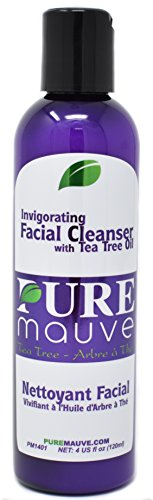 Tea Tree Facial Cleanser, Pure Mauve Invigorating Facial Cleanser with Natural Australian Tea Tree Oil, for Oily Skin, Dry Skin, Blemish , Itchy Skin, Paraben Free, Sulfate Free, Alcohol Free