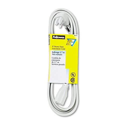 Fellowes Power Extension Cable - 125V AC - 15A - 9ft - Gray