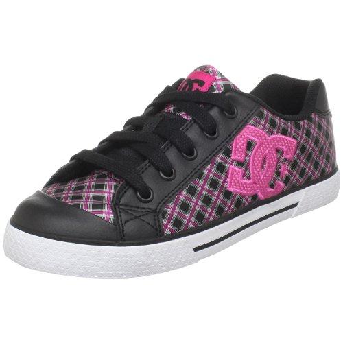 DC Women's Chelsea SE Skate Shoe,Black/Crazy Pink,6.5 M (Dc Pink Skateboard Shoe)