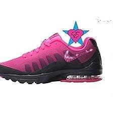 2393ecb12ec28 Bling Crystal Burgundy Revolution 4 Running Shoes.  140.00. Custom Crystal  Bedazzled Pink Black Women Nike Air Max Invigor Print - Bling.