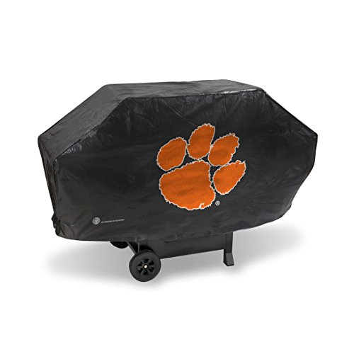 NCAA Clemson Tigers Vinyl Padded Deluxe Grill Cover from Rico Industries
