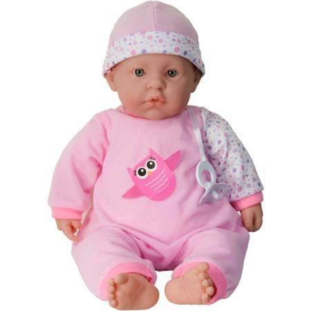 """JC Toys Berenguer 20"""" La Baby Doll Dressed in a Pink and"""