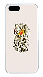 iPhone 5 Case, iPhone 5S Cases - Scratch Proof White Hard Case Cover for iPhone 5/5s Tarantino Characters Stylish Design Hard Back Case Bumper for iPhone 5/5S